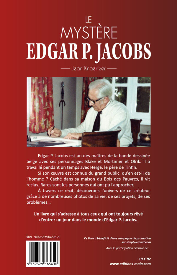 Le mystère Edgar P. Jacobs - 4e couverture